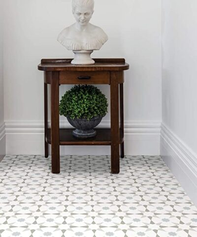 Stellar Vinyl Floor Tiles hallway light grey