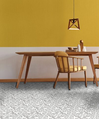 Grey and Yellow Trend Medina Vinyl Floor Tiles