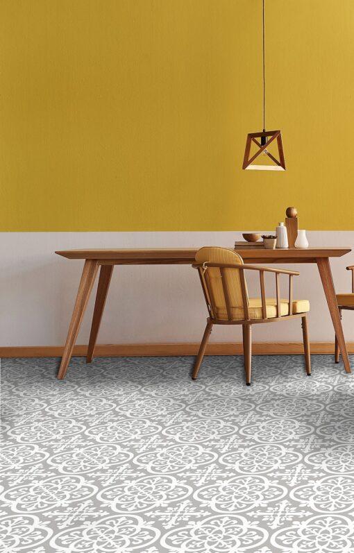 Grey and Yellow Trend Medina Vinyl Floor Tiles