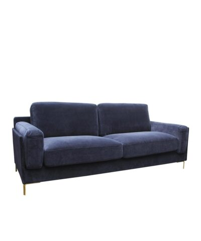 Edie 3 Seater Sofa Dark Blue