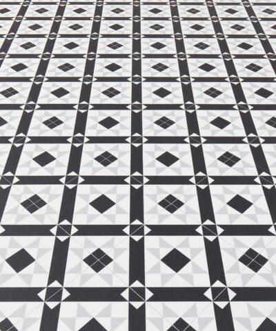 Evelyn Black Sheet Vinyl Flooring