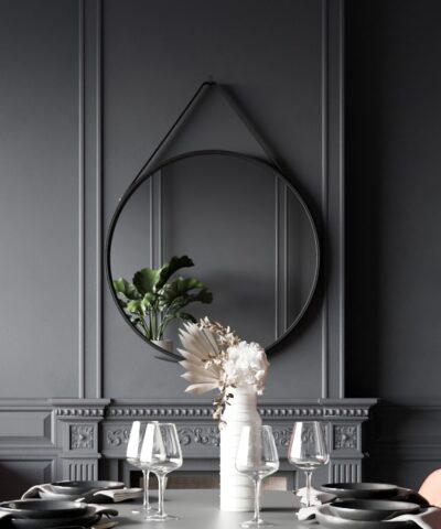 Smyrna Mirror Black