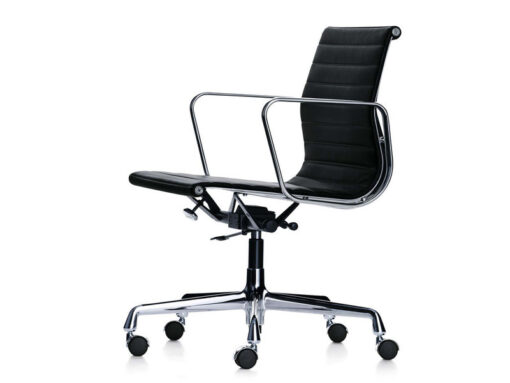 Eames EA117 Office Chair Black Leather