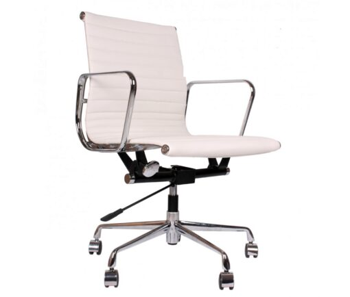 Eames EA117 Office Chair White Leather
